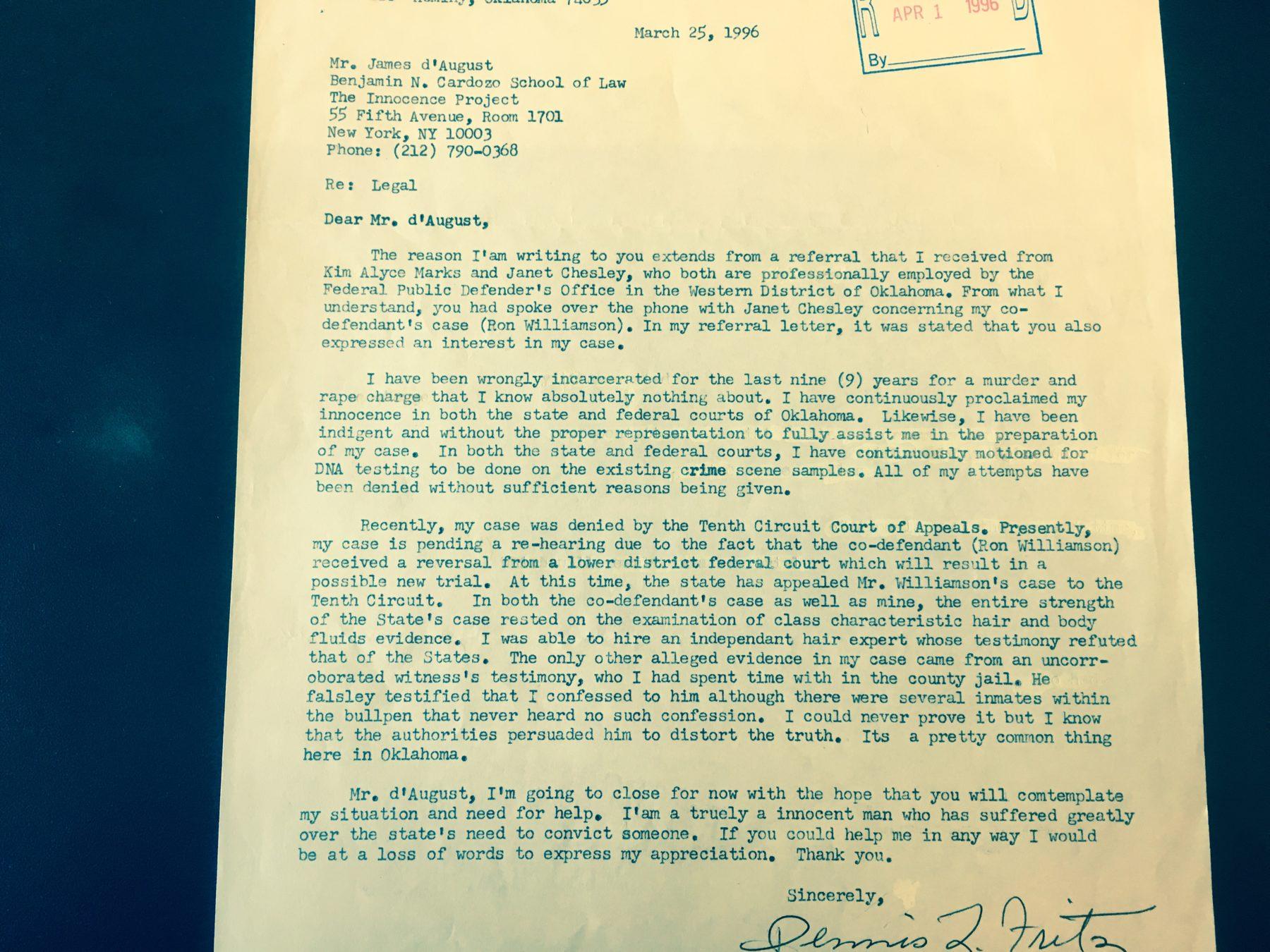 Fritz Letter