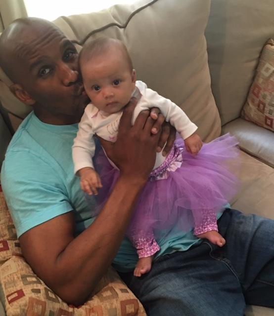 Scott Lewis and baby Harper