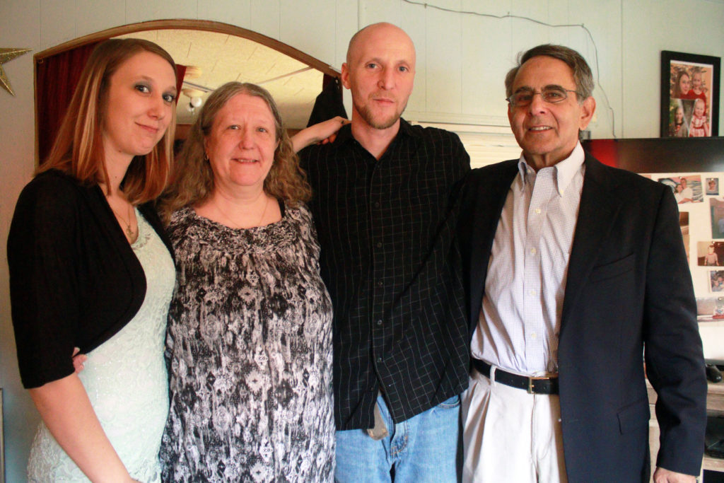 From left to right Kayal Buffey Sue Swiger Joesph Buffey Al Karlen