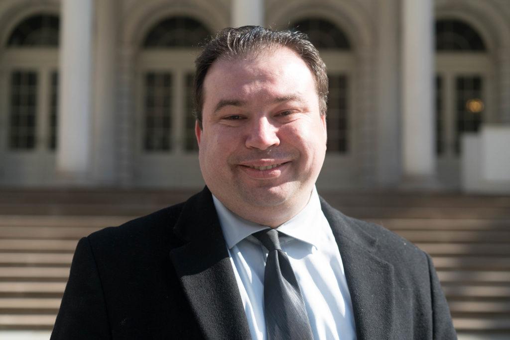 Jeff Deskovic at New York City Hall in April 2016. Photo by Sameer Abdel-Khalek